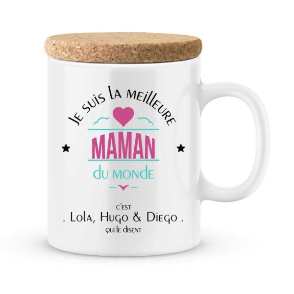 Cadeau maman | Mug personnalisé la meilleure maman du monde