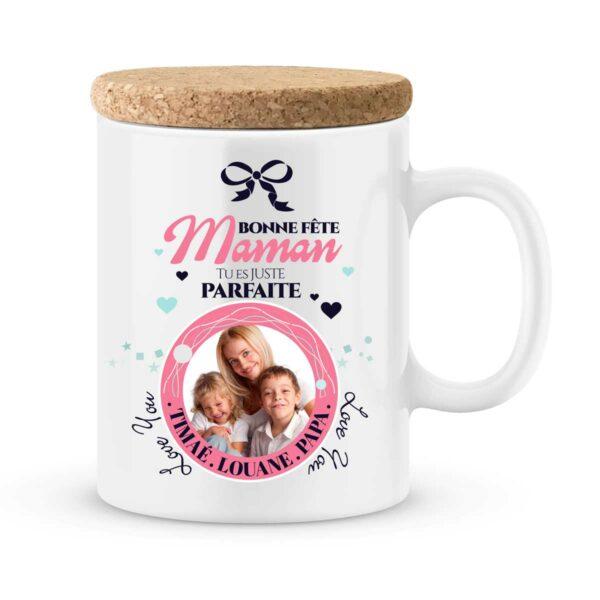 Cadeau fête des mères | Mug personnalisé maman est juste parfaite