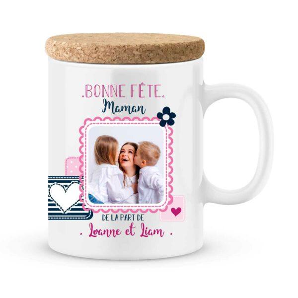 Cadeau fête des mères | Mug personnalisé avec photo bonne fête
