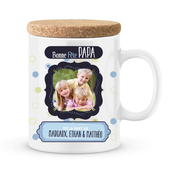 Cadeau fête des pères | Mug personnalisé bonne fête avec prénoms