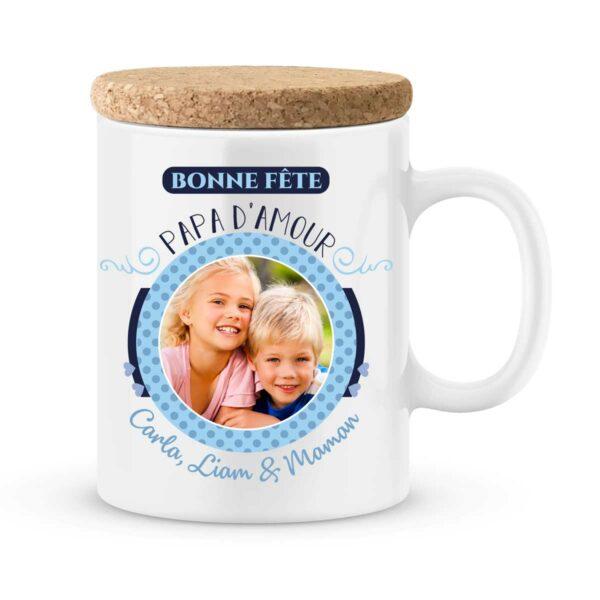 Cadeau fête des pères | Mug personnalisé bonne fête papa d'amour