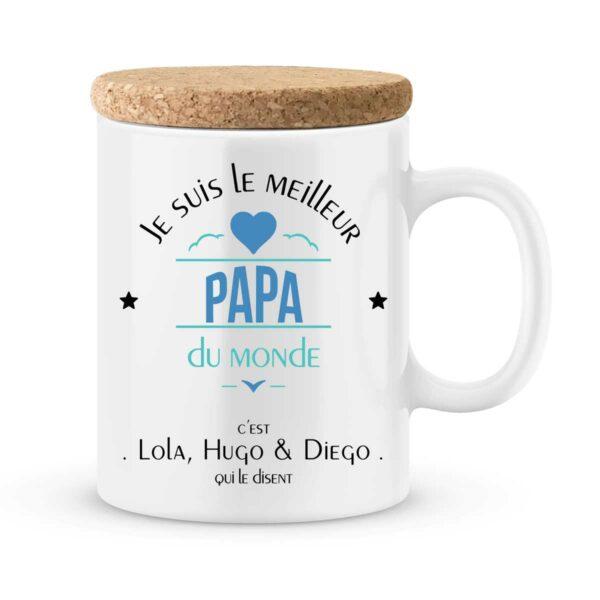 Cadeau papa | Mug personnalisé meilleur papa du monde