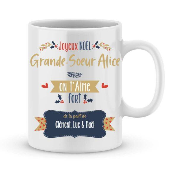 Mug personnalisé soeur haute qualité. Imprimé en France   Joli Mug