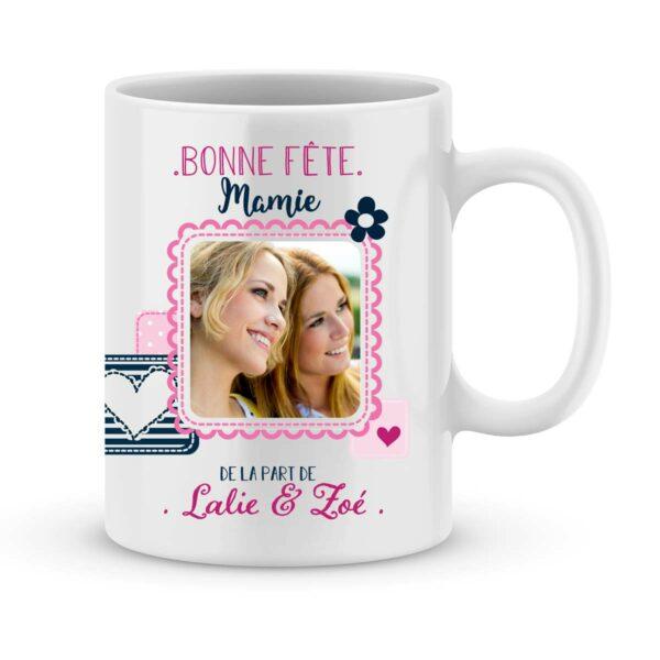 Cadeau bonne fête mamie - Mug personnalisé photo tu es parfaite