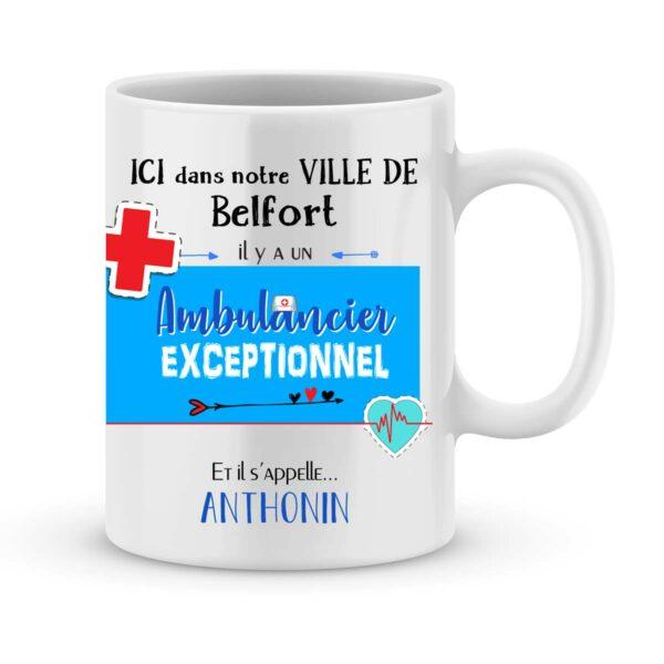 Cadeau pour ambulancier - mug personnalisé pour ambulancier