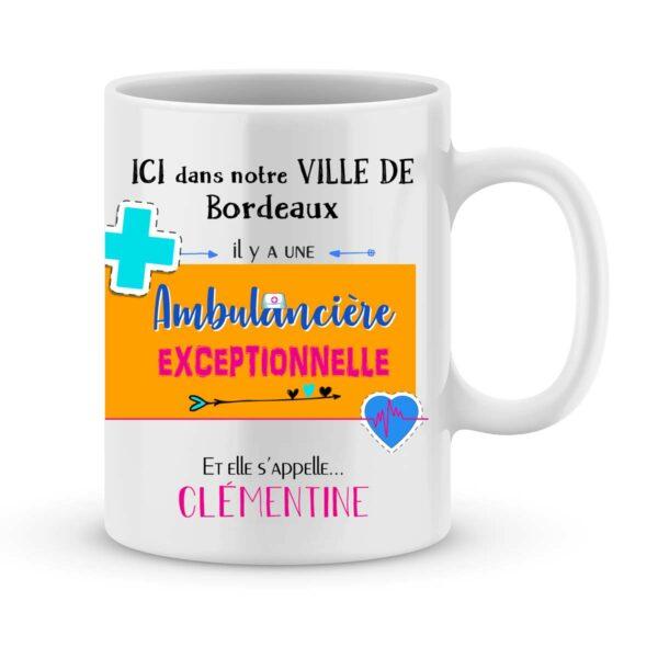 Cadeau pour ambulancière - mug personnalisé pour ambulancière