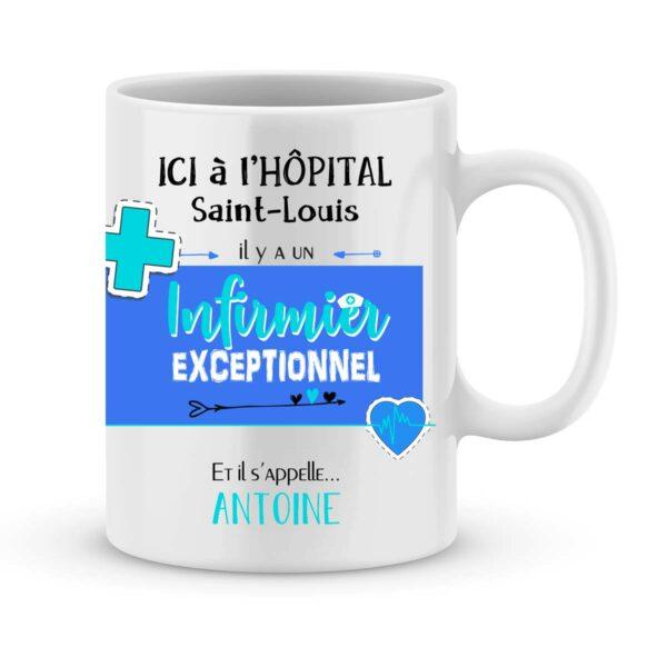 Cadeau pour infirmier - mug personnalisé pour infirmier