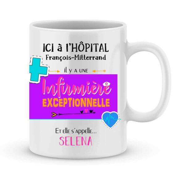 Cadeau pour infirmière - mug personnalisé pour infirmière