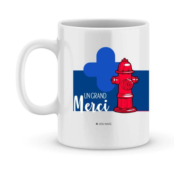 Cadeau pompier - mug personnalisé pompier exceptionnel