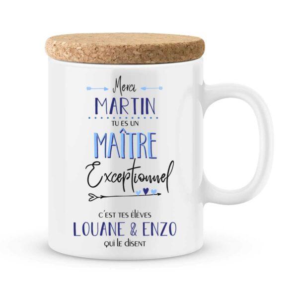 Cadeau maître. Mug personnalisé maître exceptionnel avec prénoms