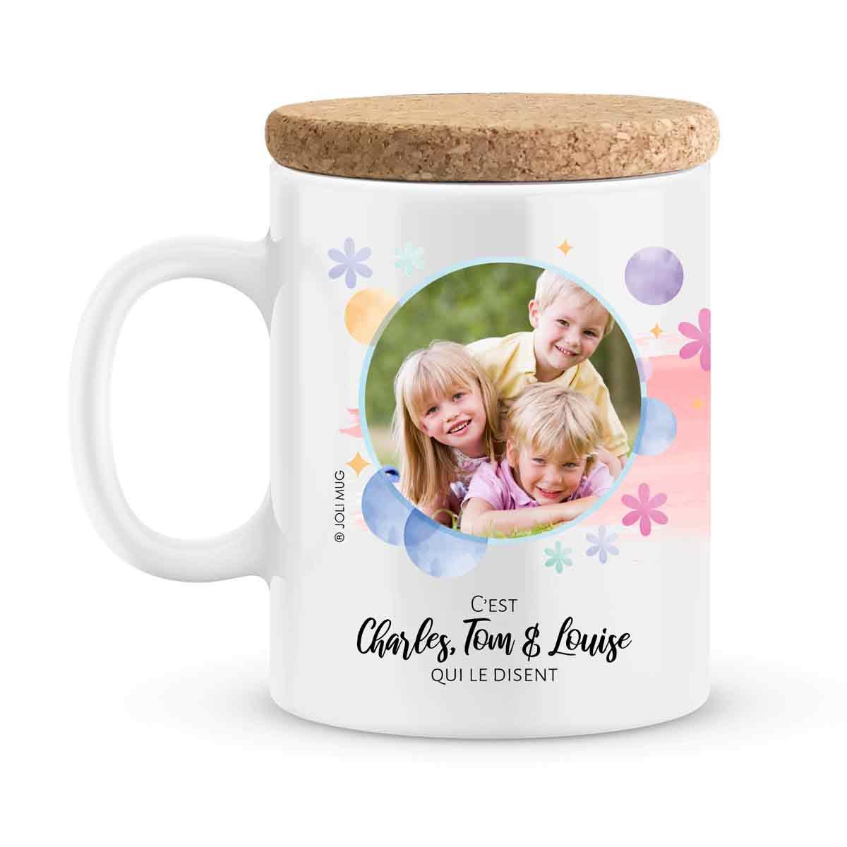 Cadeau maman | Mug personnalisé prénoms maman tu es parfaite
