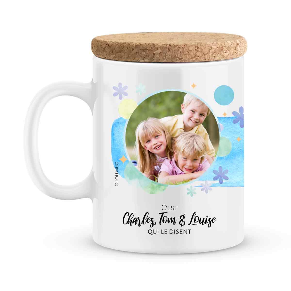 Cadeau papa | Mug personnalisé photo papa tu es parfait