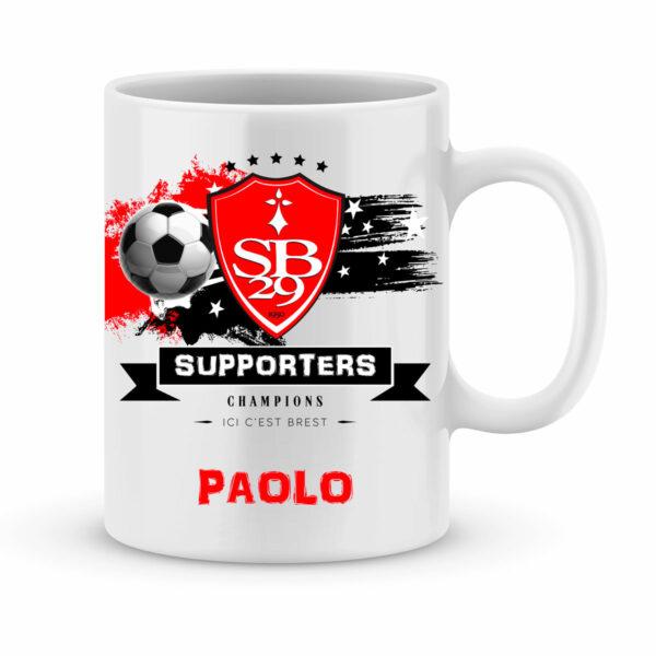 Mug personnalisé avec un prénom foot Brest