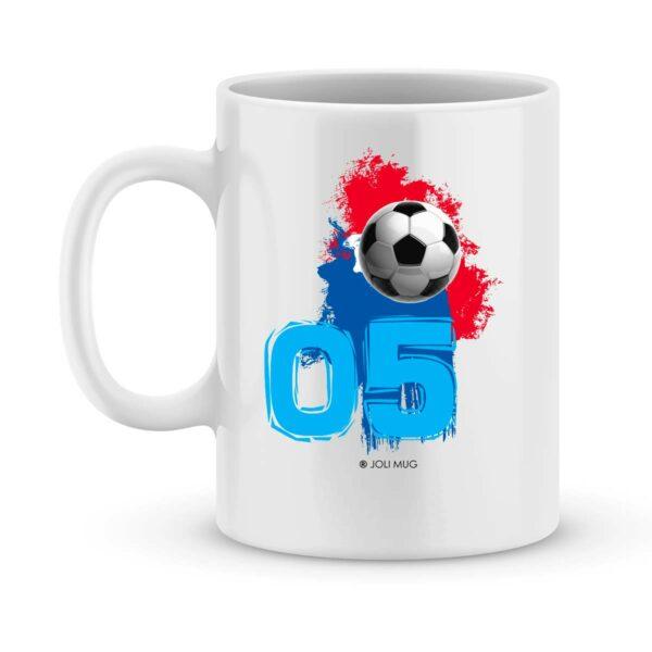 Mug personnalisé avec un prénom foot Strasbourg
