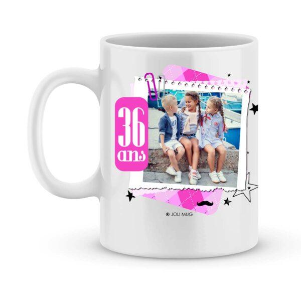 Cadeau anniversaire | Mug joyeux anniversaire personnalisé fille