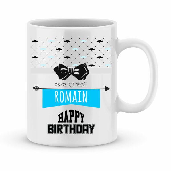 Cadeau anniversaire | Mug personnalisé happy birthday modèle garçon