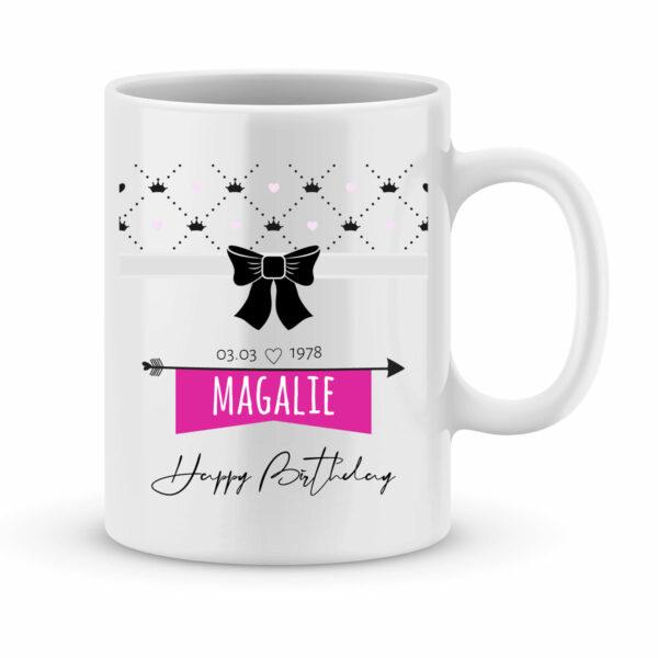 Cadeau anniversaire | Mug personnalisé happy birthday modèle fille