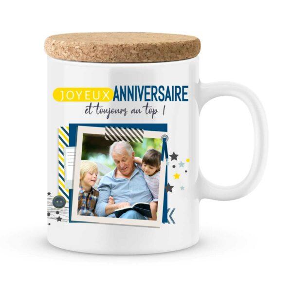Cadeau anniversaire | Mug personnalisé joyeux anniversaire et au top