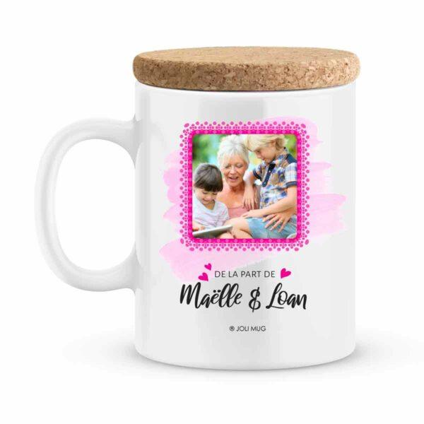 Cadeau anniversaire | Mug personnalisé pour un joyeux anniversaire rose