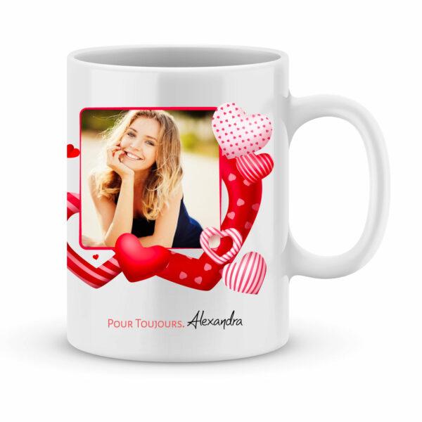 Cadeau saint valentin - Mug personnalisé je suis love de toi avec photo