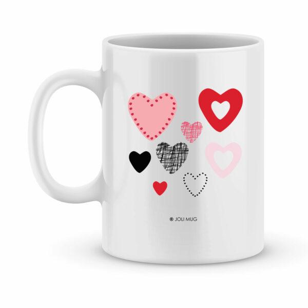 Cadeau saint valentin - Mug personnalisé I Love You - Bisous