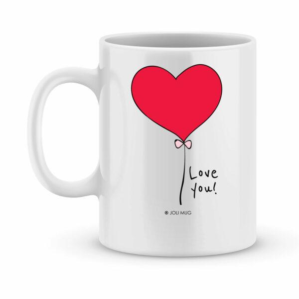 Cadeau saint valentin - Mug personnalisé Je me lève de bonheur