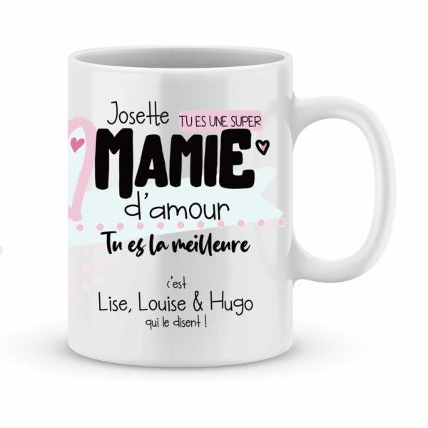 Cadeau mamie - Mug personnalisé tu es une mamie d'amour