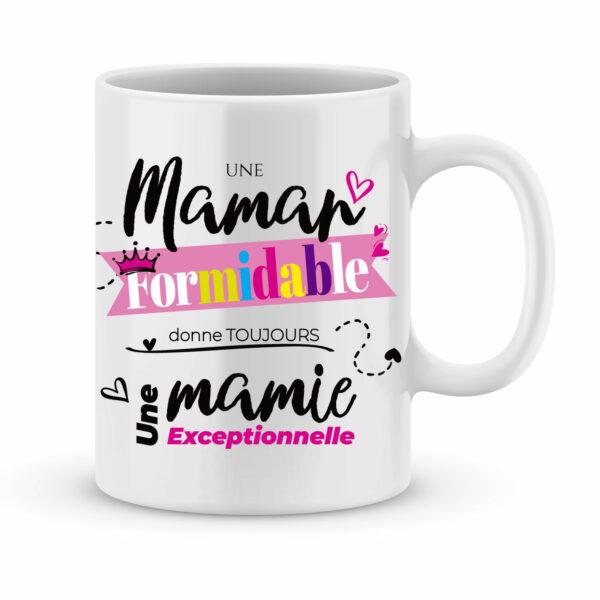 Cadeau mamie - Mug personnalisé maman formidable - mamie exceptionnelle