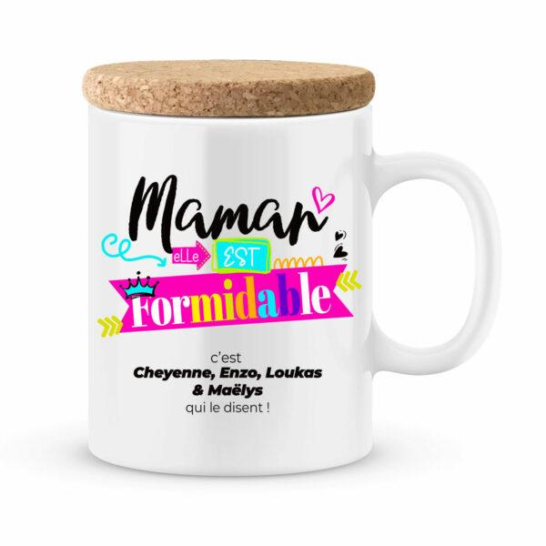Cadeau maman | Mug personnalisé maman elle est formidable