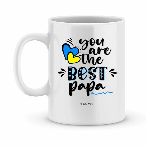 Cadeau fête des pères | Mug personnalisé bonne fête papa
