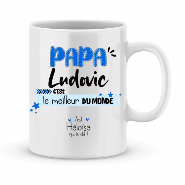Cadeau papa | Mug personnalisé papa c'est le meilleur du monde