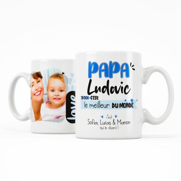 Cadeau papa   Mug personnalisé papa c'est le meilleur du monde