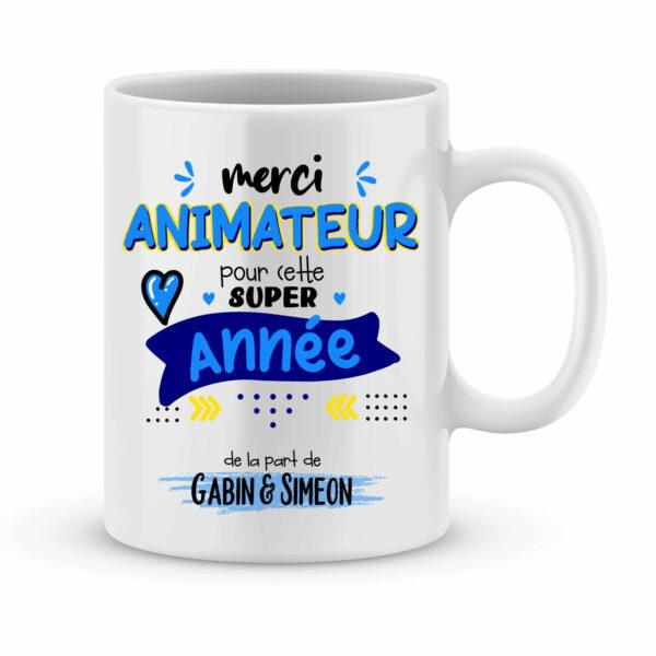 Cadeau pour animateur. Mug merci pour cette super année