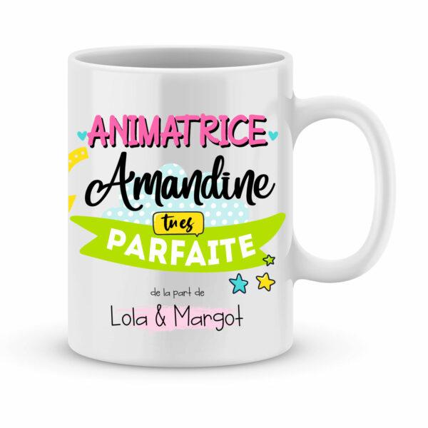 Cadeau pour animatrice | Animatrice tu es parfaite avec prénoms au choix